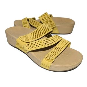 Vionic Alexis Suede Platform Sandals Womens Sz 10